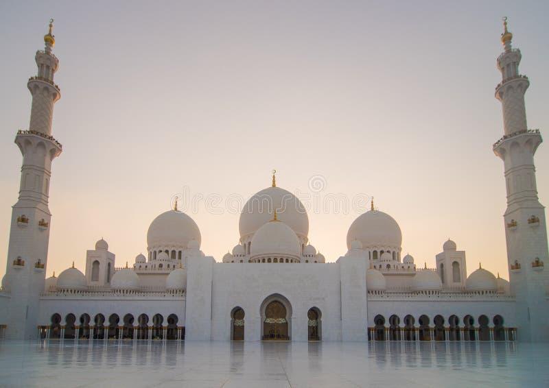 Cheikh zayed grote moskee in Abu Dhabi royalty-vrije stock foto's