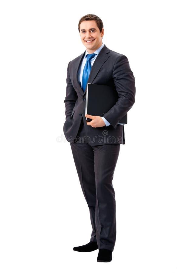 Cheio-corpo do homem de negócios foto de stock royalty free