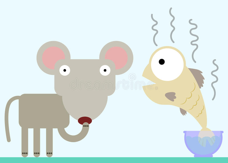 Cheira duvidoso ilustração stock