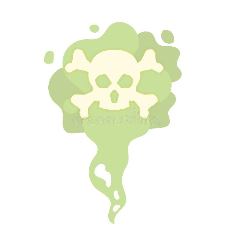 Cheiros maus dos desenhos animados, aroma do fedor Gás tóxico, mortal ilustração royalty free