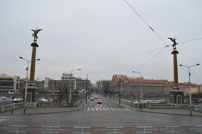 Download Chekhov Bridge in Prague editorial photography. Image of river - 83702037