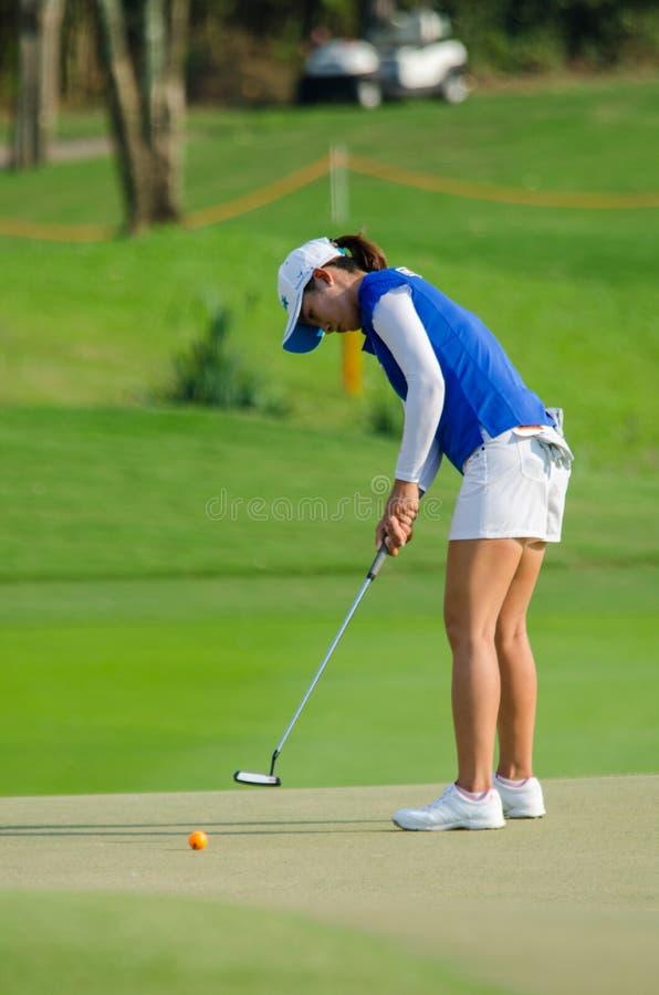 Chella Choi de la Corea del Sur en Honda LPGA Tailandia 2016 fotos de archivo