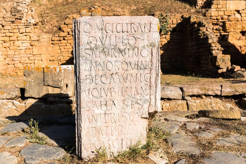 Chellah古老大墓地的罗马desc在拉巴特,摩洛哥  库存图片