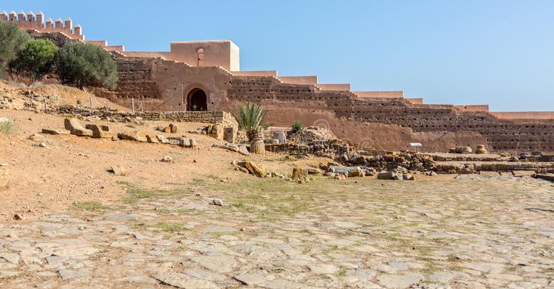 Chellah废墟在拉巴特,摩洛哥 免版税图库摄影