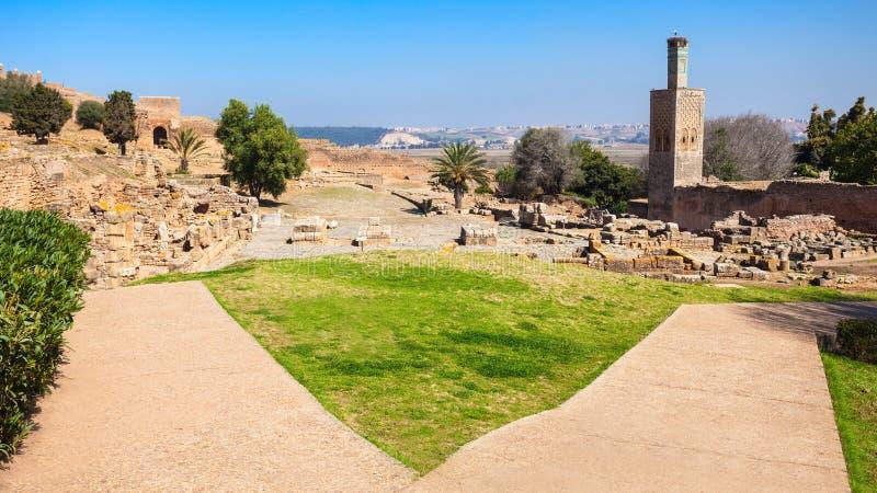 Chellah in Rabat royalty-vrije stock foto's