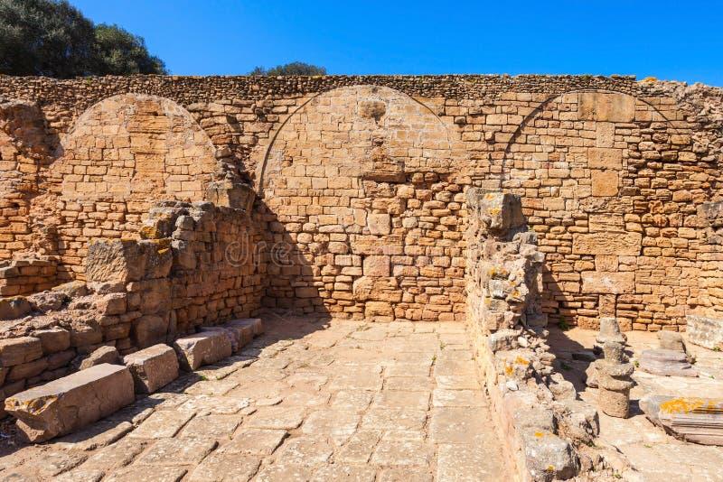 Chellah in Rabat stock afbeeldingen