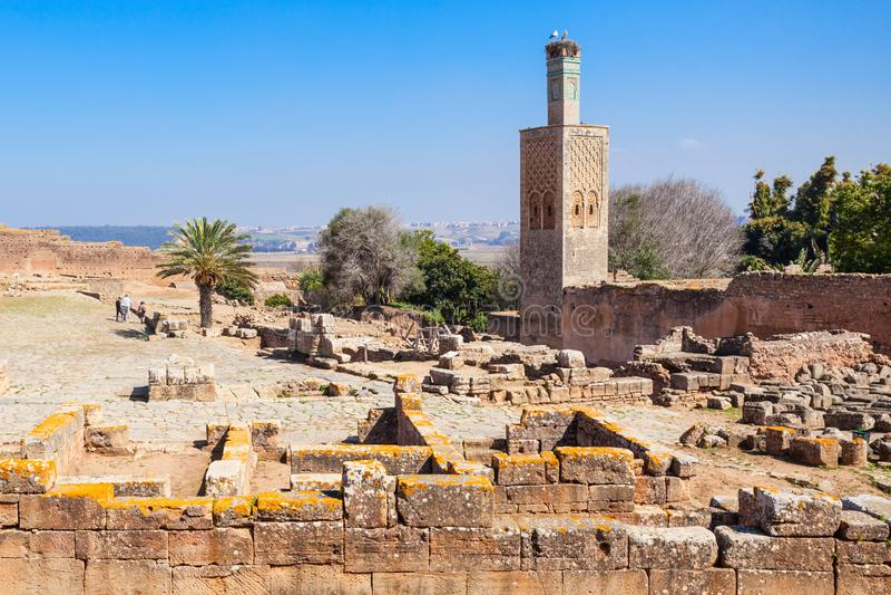 Chellah in Rabat stock afbeelding
