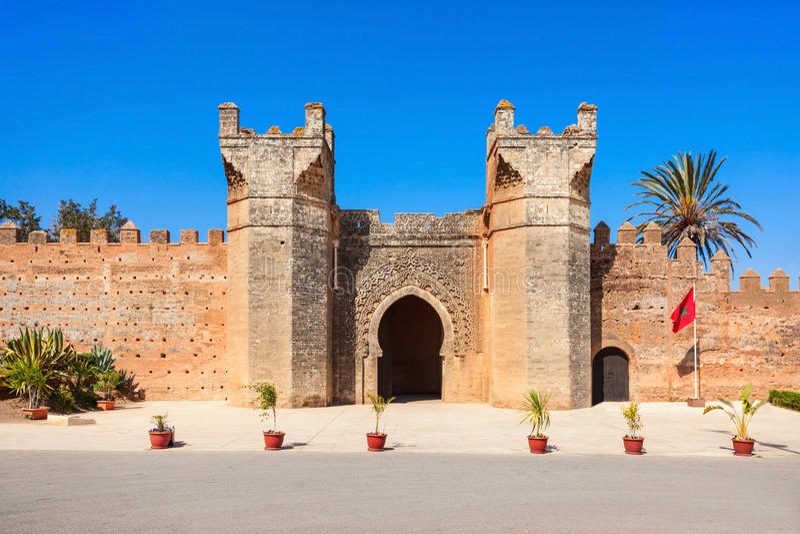 Chellah in Rabat royalty-vrije stock afbeelding