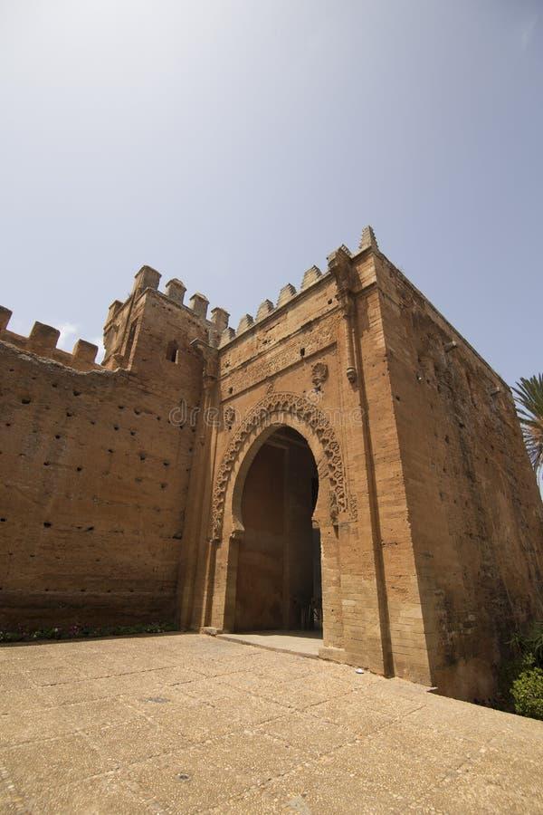 Chellahnecropool in Rabat stock afbeeldingen