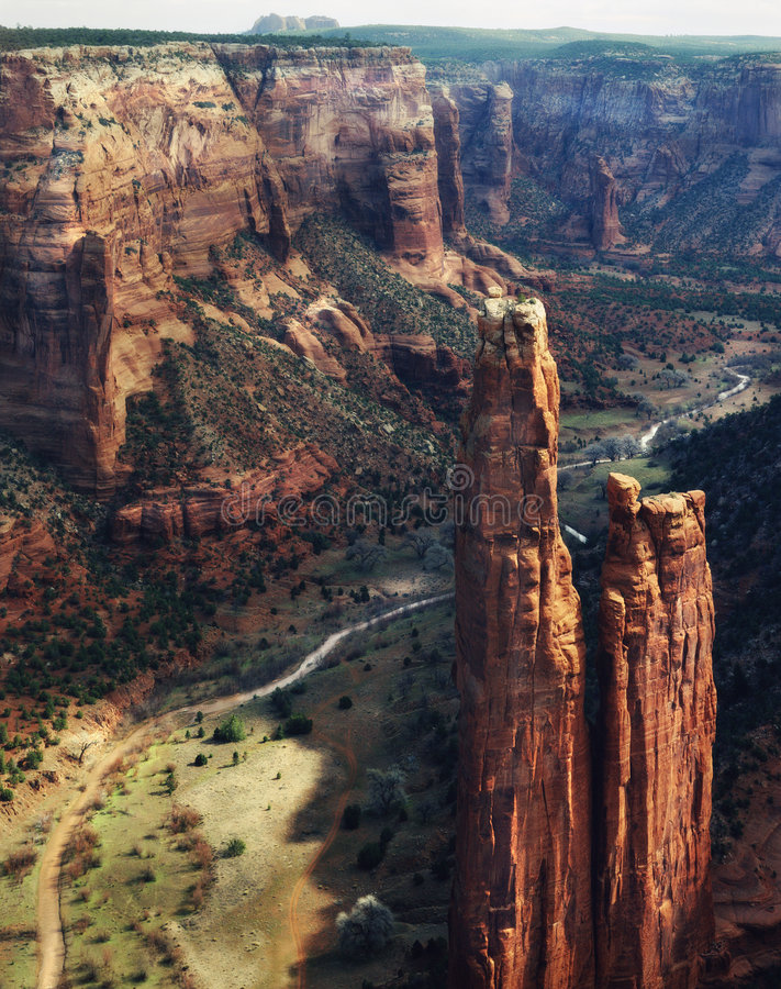 chelly亚利桑那峡谷de monument国民 库存照片