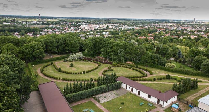 Chelm镇的看法在东波兰 在前景, 免版税库存图片