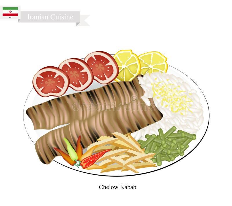 Chelow Kabab Krajowy naczynie Iran royalty ilustracja