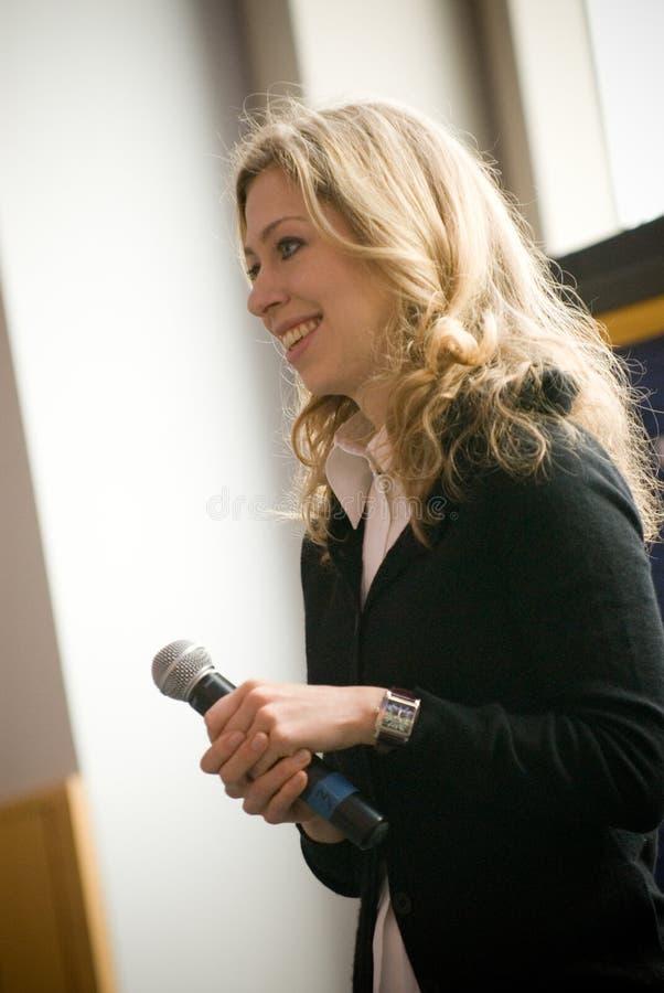 Chelsea Clinton 3 fotografia stock libera da diritti