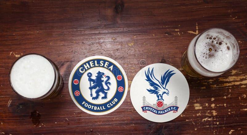 Chelsea contra Crystal Palace fotos de archivo