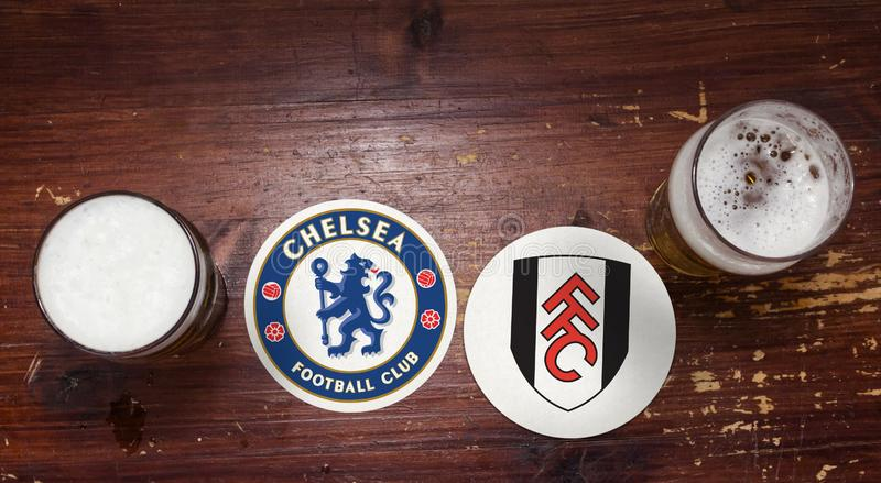 Chelsea contre Fulham images stock