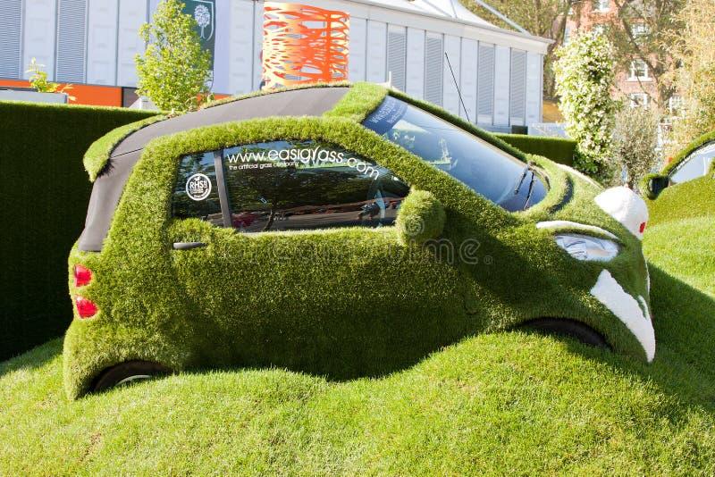 Chelsea Flower Show - el coche de Easibug imagen de archivo