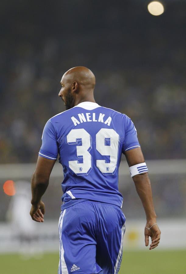 Chelsea football club player Nicolas Anelka stock images