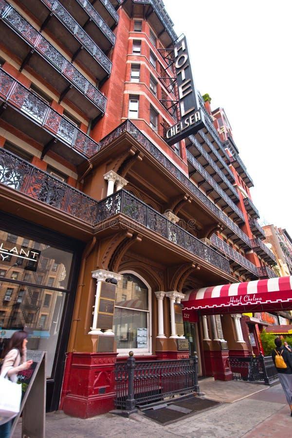Chelsea Hotel NYC foto de archivo