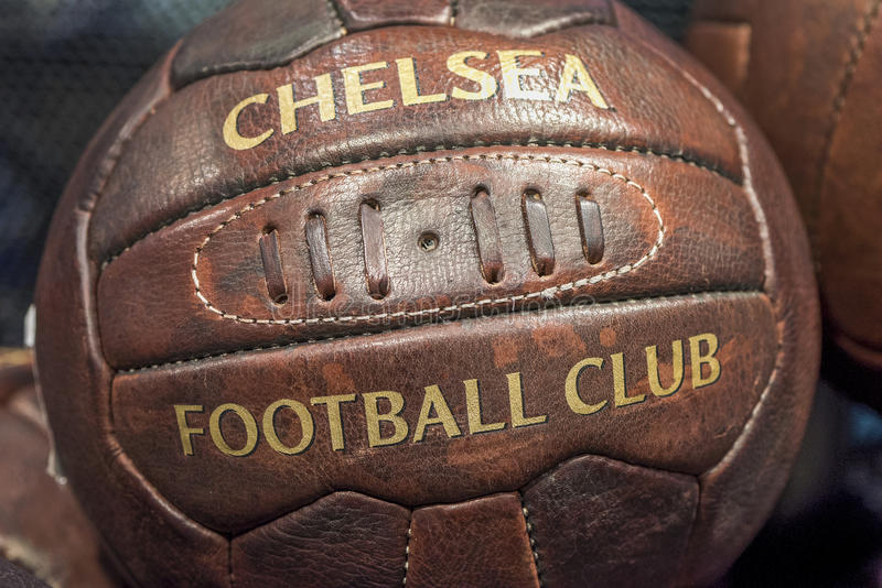 Chelsea Leather Ball stock photography