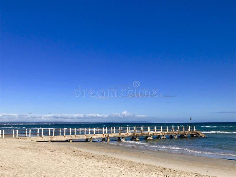 Chelsea Pier, Melbourne, Victoria, Australia fotografía de archivo