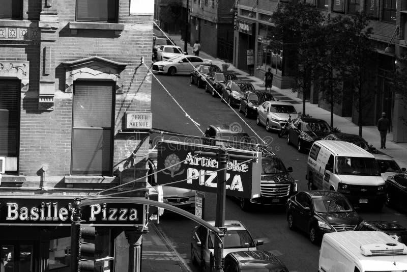 Chelsea Street-Ecke lizenzfreie stockfotografie