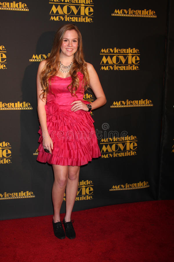 Chelsey Bryson. LOS ANGELES - FEB 10: Chelsey Bryson arrives at the 2012 Movieguide Awards at Universal Hilton Hotel on February 10, 2012 in Universal City, CA royalty free stock photo