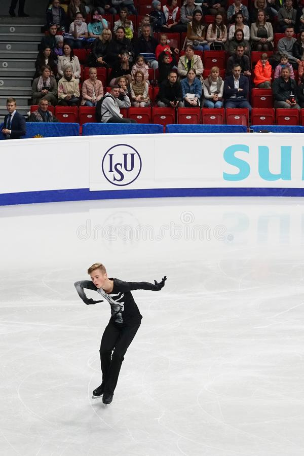 Figure skater participant Ilya Lavrov Russian Federation. Chelyabinsk, Russian Federation-September 12, 2019, are: figure skater participant Ilya Lavrov Russian stock images