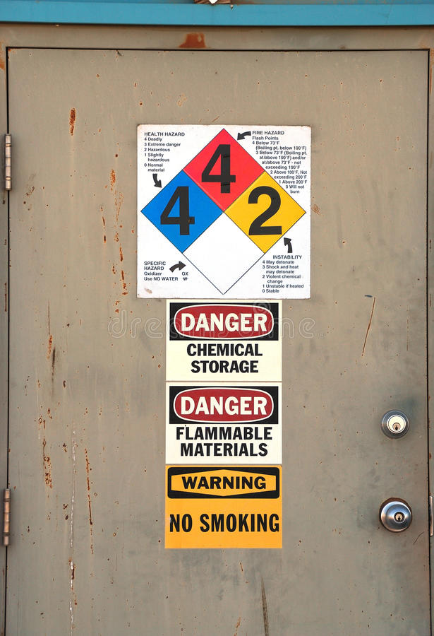 Chem Door royalty free stock photos