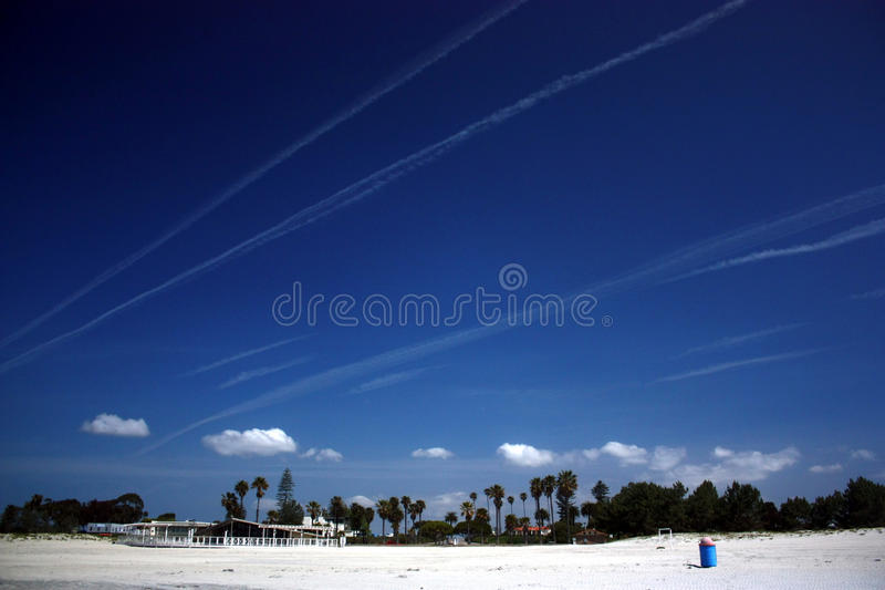 Download Chem trails in California stock photo. Image of california - 83714550