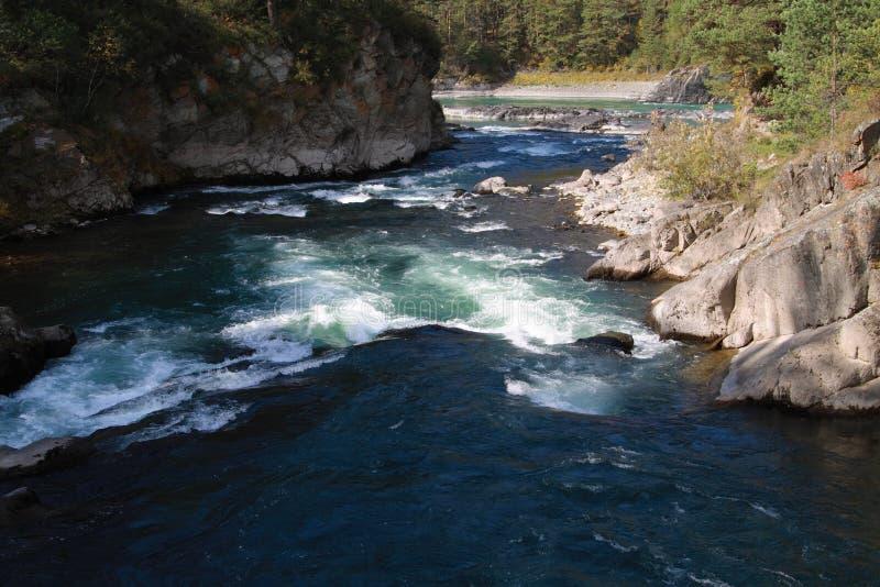 Chemal & rivieren Katun stock foto's