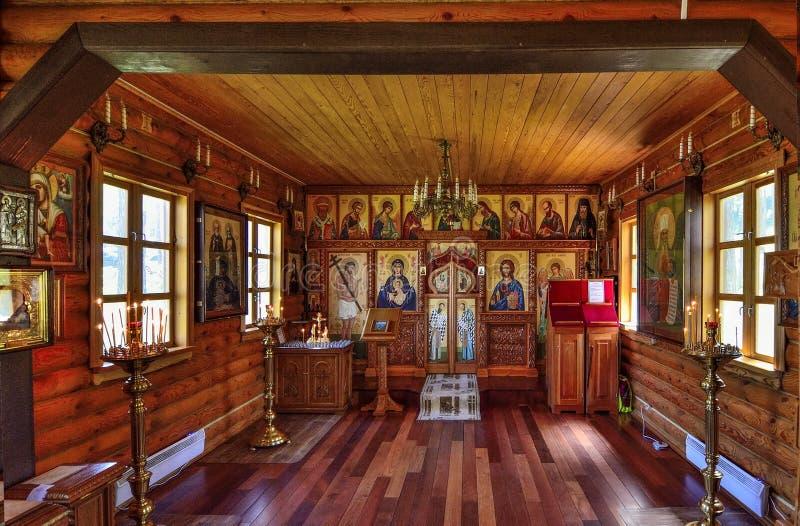 Chemal-Dorf, Altai-Republik, Russland - 23. Juli 2018 - Interio lizenzfreie stockbilder