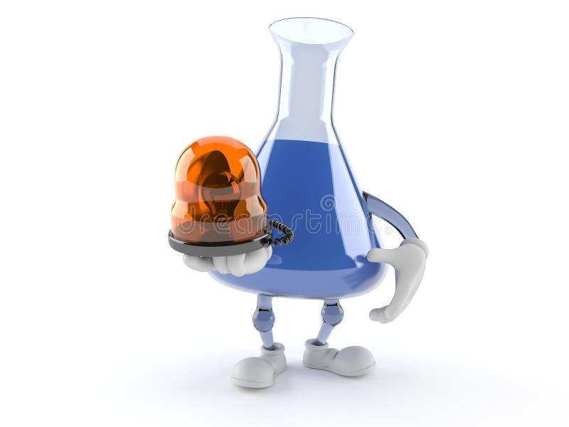 Chemia charakteru mienia nagłego wypadku kolbiasta syrena ilustracja wektor