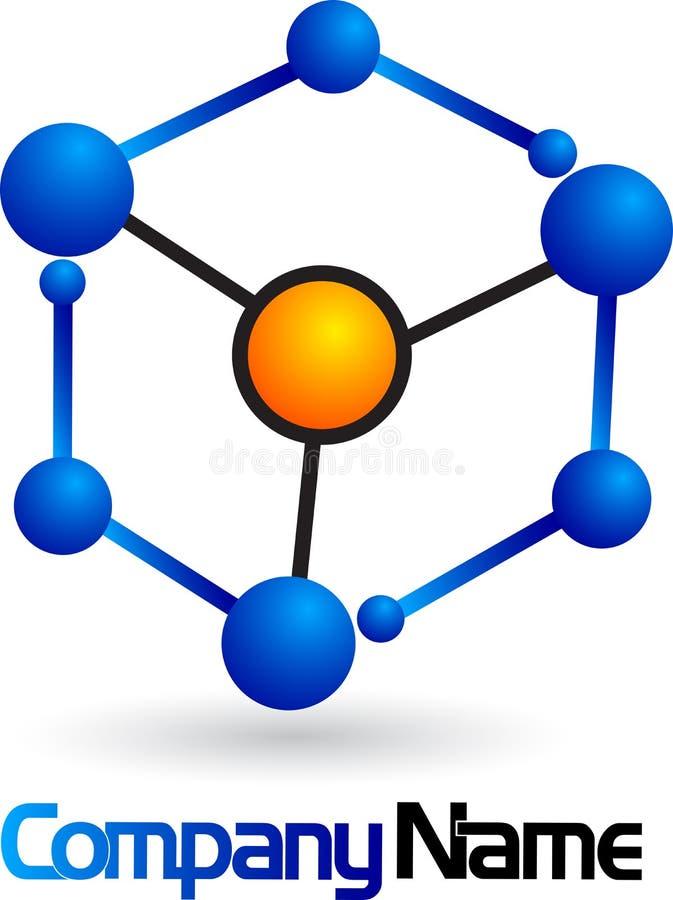 chemia logo ilustracji