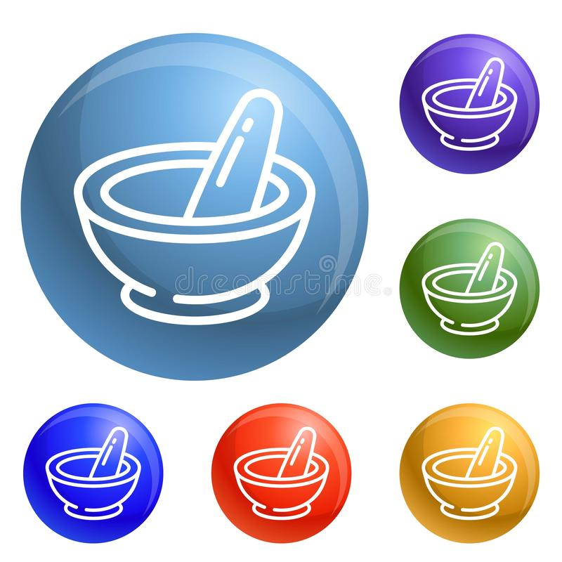 Chemia półkowe ikony ustawiający wektor ilustracja wektor