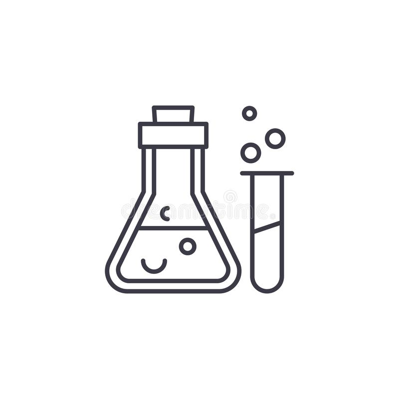 Chemical analysis linear icon concept. Chemical analysis line vector sign, symbol, illustration. vector illustration