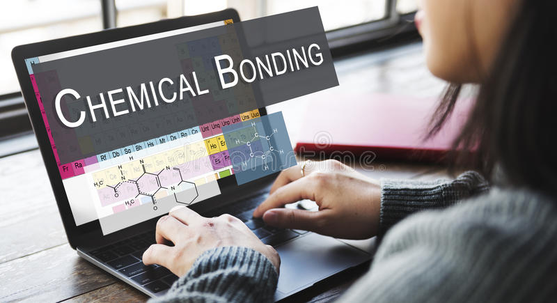 Chemical Bonding Experiment Research Science Table of Elements C royalty free stock image