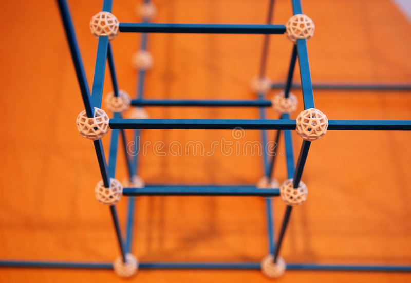 Chemical bonding structures stock images