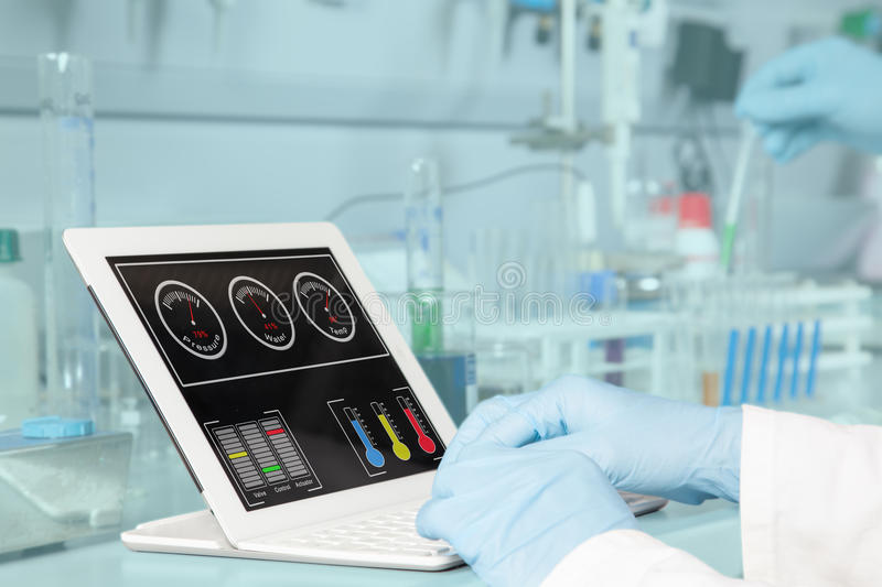 Chemical dashboard royalty free stock photography