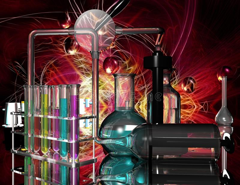 Chemical devices royalty free illustration
