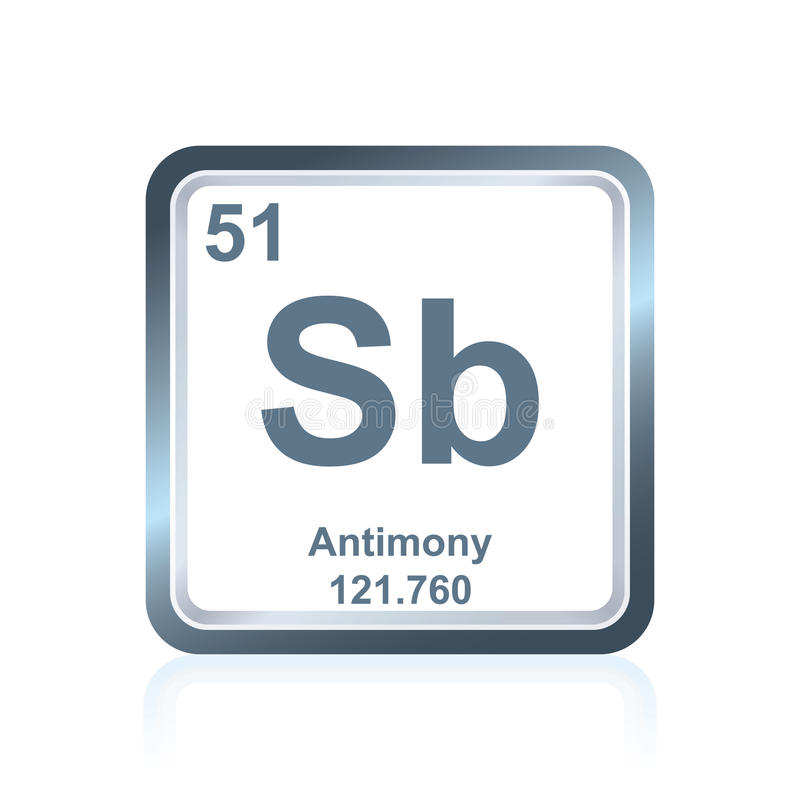 Chemical Element Antimony From The Periodic Table Stock Illustration