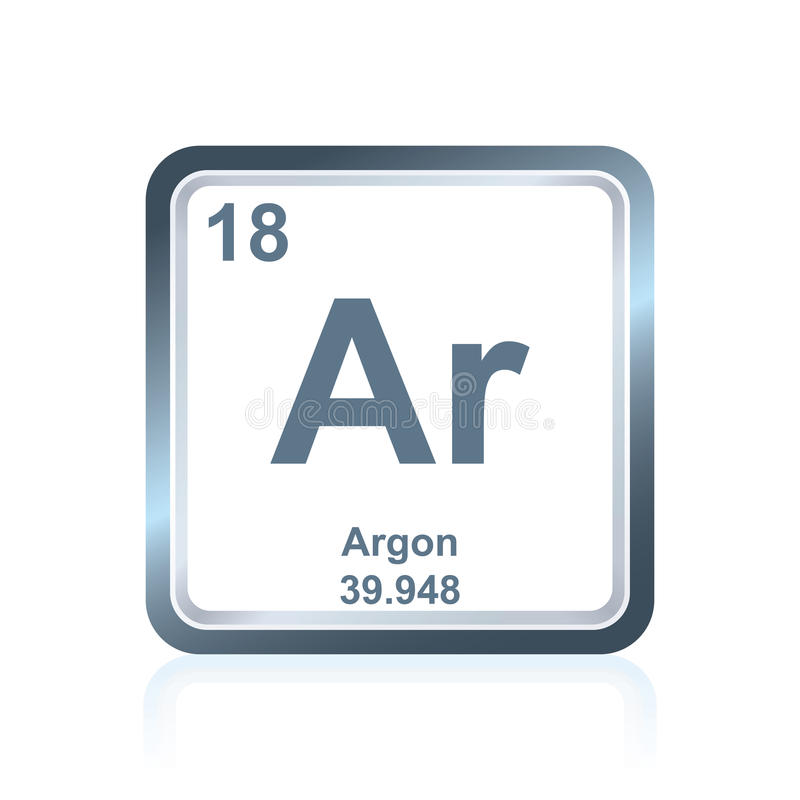 Chemical Element Argon From The Periodic Table Stock Vector