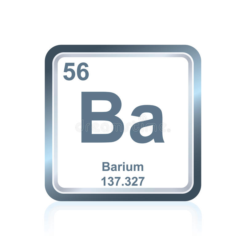 Chemical Element Barium From The Periodic Table Stock Illustration