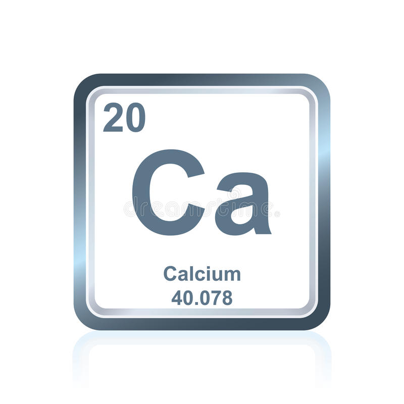 Chemical Element Calcium From The Periodic Table Stock Vector