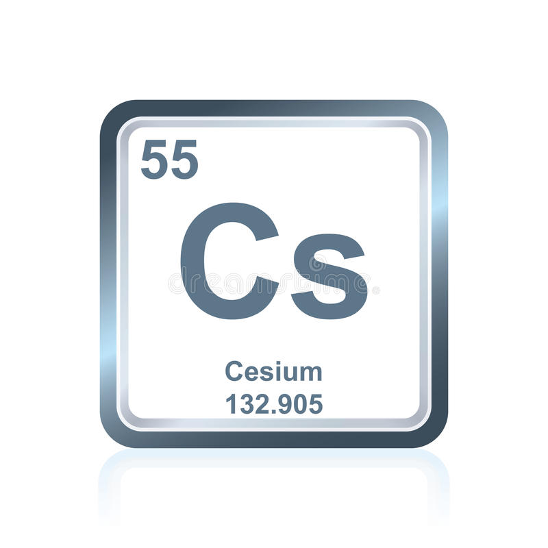 Chemical Element Cesium From The Periodic Table Stock
