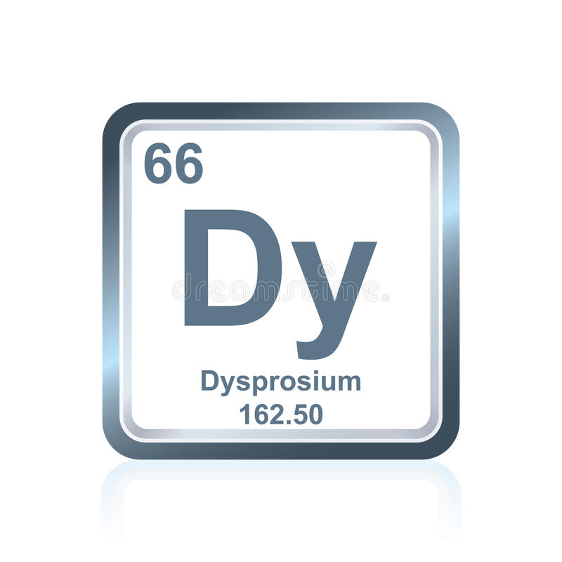 Chemical element dysprosium from the Periodic Table royalty free illustration