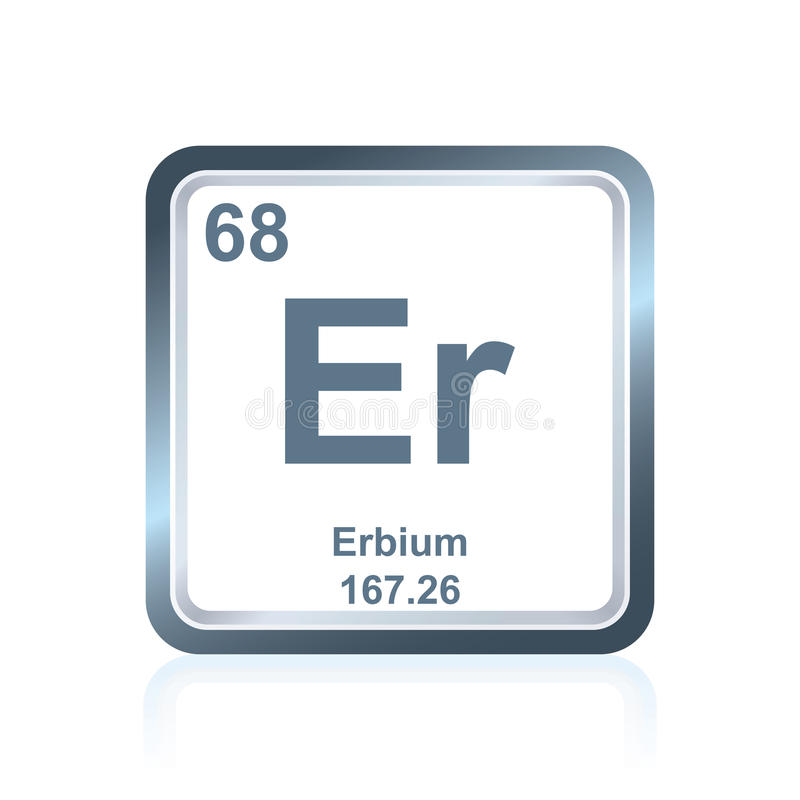 Chemical element erbium from the Periodic Table royalty free illustration