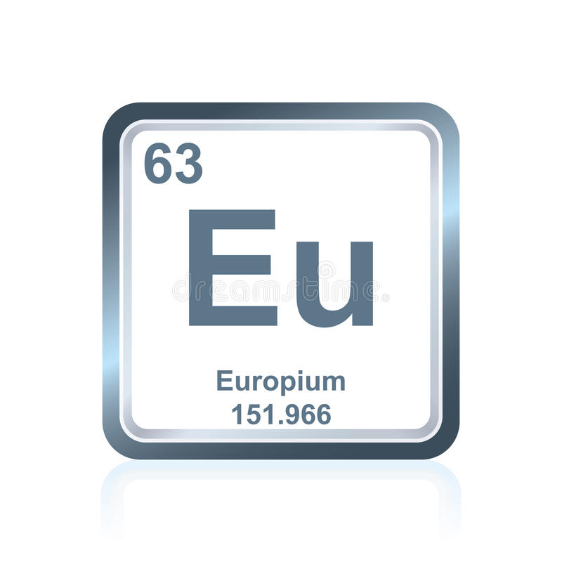 Chemical element europium from the Periodic Table royalty free illustration