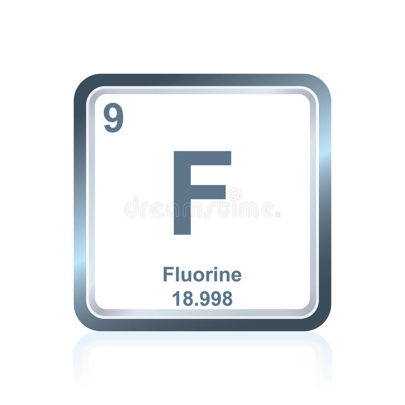 Chemical element fluorine from the periodic table stock vector download chemical element fluorine from the periodic table stock vector illustration of icon blue urtaz Images