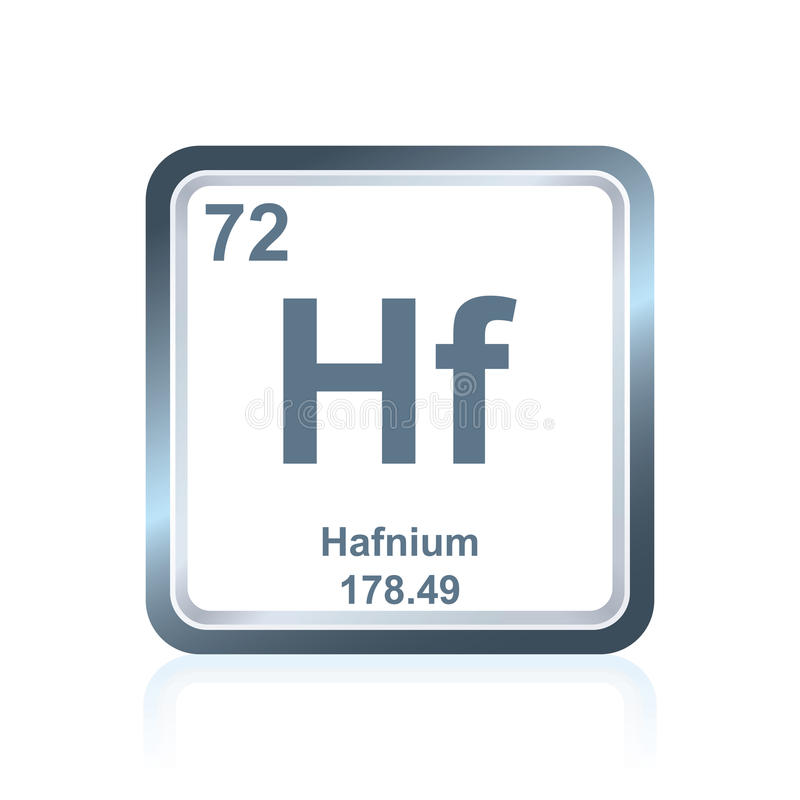 Chemical element hafnium from the Periodic Table royalty free illustration