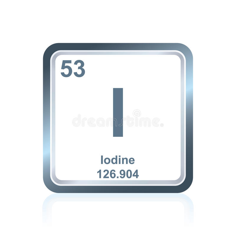 Chemical element iodine from the periodic table stock illustration download chemical element iodine from the periodic table stock illustration illustration of metallic representation urtaz Choice Image
